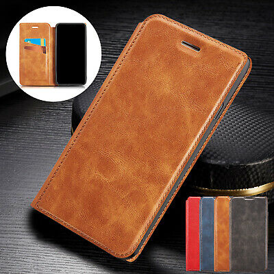 For iPhone 8 Plus 7 6s XS Max XR Case Magnetic Luxury Leather Flip Wallet Cover