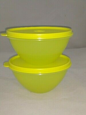 Tupperware NEW Sm Wonderlier Bowl Set/2 margarita green