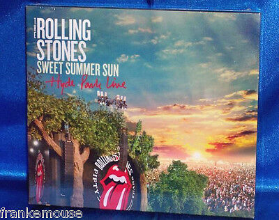 New Oop Rolling Stones Sweet Summer Sun Hyde Park Live 2 Disc Music Cd & Dvd