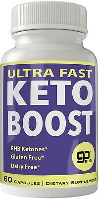 Ultra Fast Keto Boost Weight Loss Pills with Advanced Natural Ketogenic BHB B...