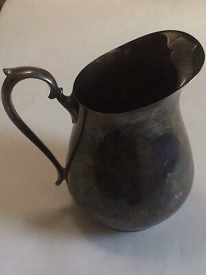Vintage Wm. RODGERS  Silver Plated Tea Juice Water Pitcher With Ice Guard EVC