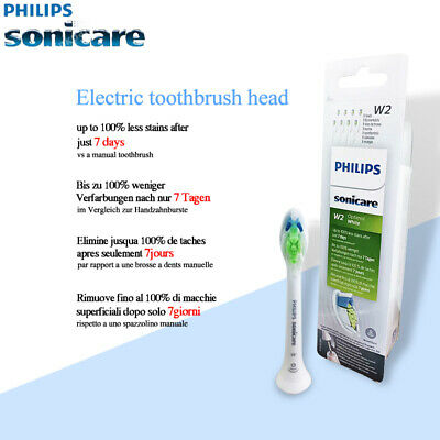 Original New Philips Sonicare W2 Optimal White Brush Heads HX6068- 8 Pcs