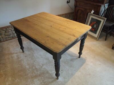 Table refectory farmhouse scrub top Victorian Pine c1880