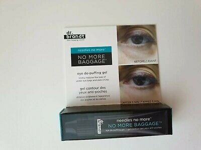 Dr. Brandt Needles No More No More Baggage Eye De-Puffing Gel 3g New