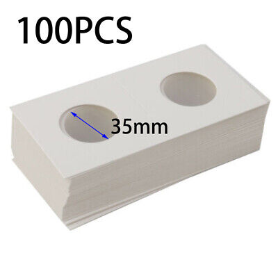 100Pcs 35m Cardboard Coin Holders Flips Coin Organizer Storage And Display-Tools