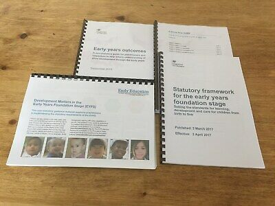 EYFS Framework Pack inc Development Matters, Statutory, Outcomes and Know How
