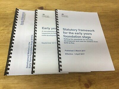 EYFS Early Years Framework Pack inc Development Matters, Statutory and Outcomes