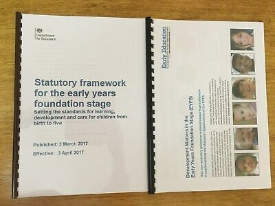 EYFS Early Years Foundation Stage Framework and Development Matters Pack