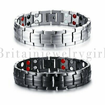 2pcs Men Women Therapeutic Energy Healing Magnetic Bracelet Therapy Arthritis