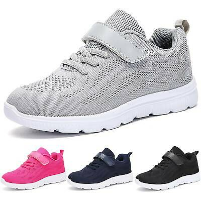 Kids Children Girls Boys Running Trainers Shoes Gym Sports Breathable Sneakers