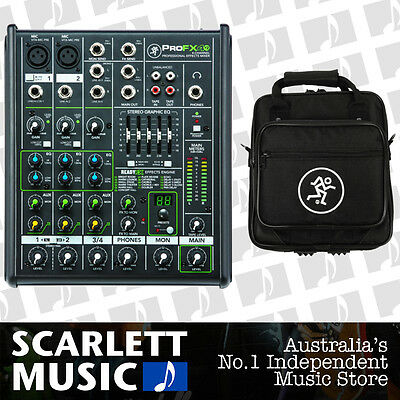Mackie ProFX4 V2 4 Channel Professional Compact Mixer w/ Gigbag **BRAND NEW**