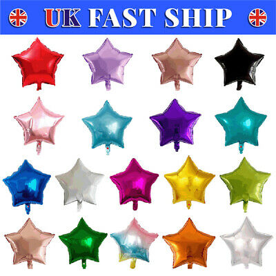 "10/20/50X 18"" Star Foil Balloons Rose Gold Helium Party Birthday Wedding Decor"