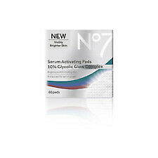 *NEW Sealed* No7 Serum Activating Pads 10% Glycolic Glow Complex 60 Pads Boxed.