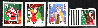 1991 Canada SC# 1339as-1342as - Christmas (Personages) Santa Claus - M-NH