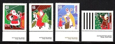 1991 Canada SC# 1339as-1342as - Christmas (Personages) Santa Claus - M-NH-1