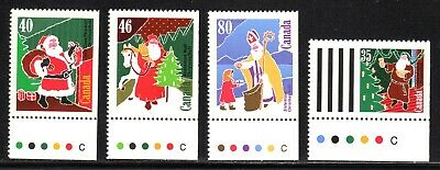 1991 Canada SC# 1339as-1342as - Christmas (Personages) Santa Claus - M-NH-2