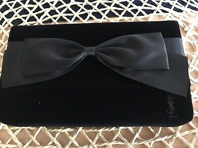 Authentic YSL Velvet Clutch With Make Up&Mirror VGC