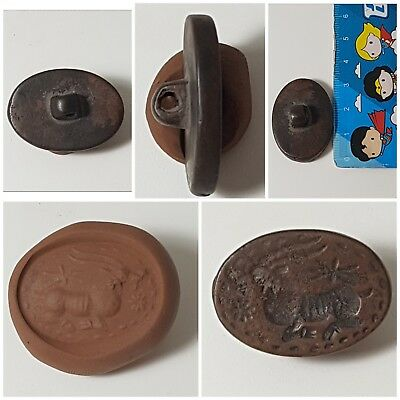Fantastic antique bronze intaglio stamp