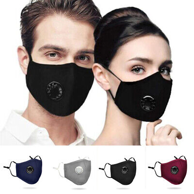 NEW PM2.5 Dust Mask Respirator Anti Pollution Air Face Masks Washable Reusable