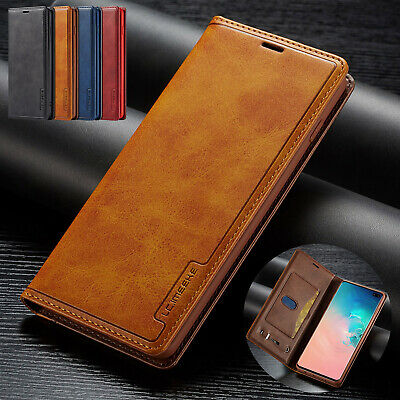 For Samsung Galaxy Note 10 + Case Plus Retro Flip Leather Stand Card Slot Cover