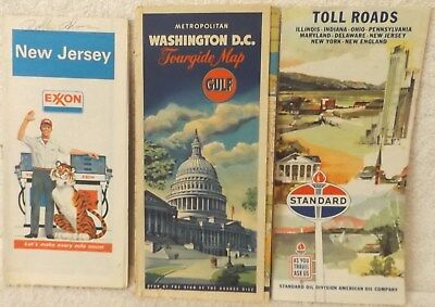 Vintage Road Mappe Nuovo Maglia Washington D.C Toll Road Mappe Out Of 18.3ms