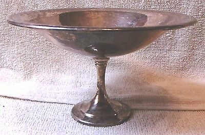 Vintage Oneida Sterling Silver Plated Pedistal Serve Dish-Very Nice-Great Patina