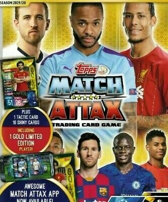 Topps Match Attax 2019/20 Champions League/Europa League Complete Base Team Sets