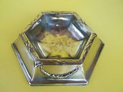 181 / Antique Late 19Th Century Pressed Brass Trinket Dish With Swags