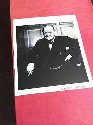 Winston Churchill ~Their Finest Hour~ 1949 WW2- old photo included