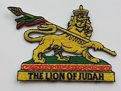 THE LION OF JUDAH SMALL BADGE 6.5cm x 8cm ROOTS  REGGAE CULTURE RASTAFARI