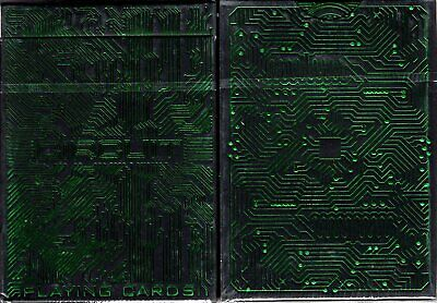Circuit Green Playing Cards Poker Size Deck WJPC Custom Limited Edition Sealed