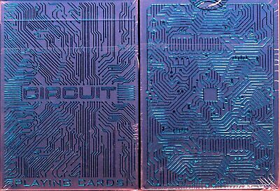 Circuit Blue Playing Cards Poker Size Deck WJPC Custom Limited Edition Sealed