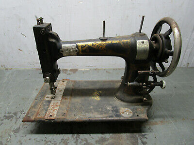 Antique early cast iron white sewing machine treadle 1800s
