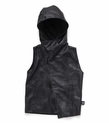 Nununu Size 4-5Y Unisex Vest 100% Leather