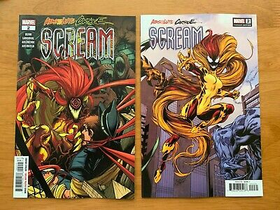 ABSOLUTE CARNAGE SCREAM 2 Sandoval Main + Bagley Variant Set Marvel 2019  NM