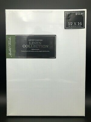 """Masters Touch Artist Canvas Linen Collection 12"""" x 16"""" new"""