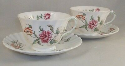 Royal Doulton CLOVELLY 2 Cup & Saucer Sets Bone China GREAT CONDITION