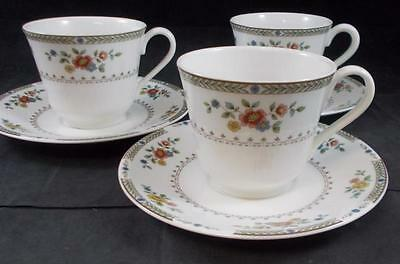 Royal Doulton KINGSWOOD 3 Cup & Saucer Sets TC1115 GREAT CONDITION