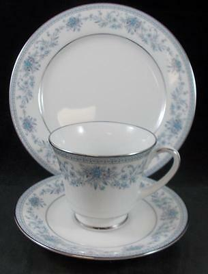 Noritake BLUE HILL Trio Cup & Saucer, Salad Plate 2482 MINT SHOWROOM INVENTORY