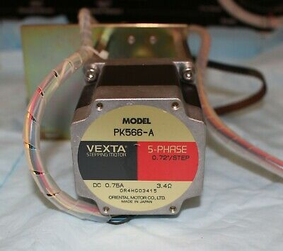Vexta PK566-A Step Motor 5-phase 0.72°/step DC 0.75A
