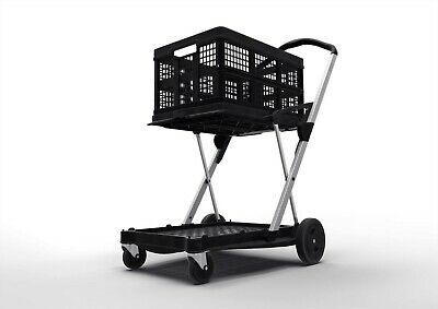 BLACK Clax Cart - Folding Trolley Including 1 collapsible Crate - AVAILABLE now