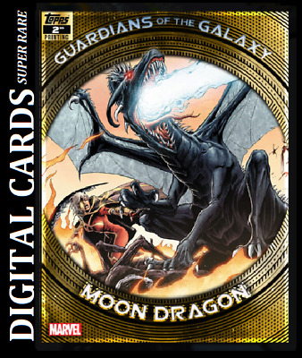 Topps Marvel Collect Card Trader Guardians Of The Galaxy 2Nd Printing Moon Drago