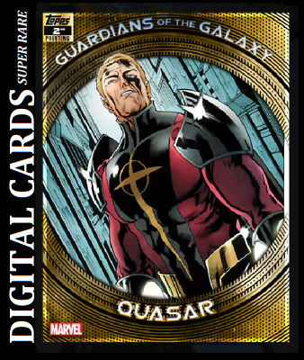 Topps Marvel Collect Card Trader Guardians Of The Galaxy 2Nd Printing Quasar