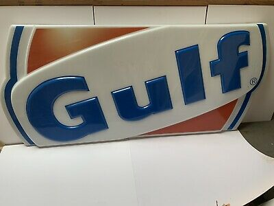Gulf Gas Station Sign - Both Halfs