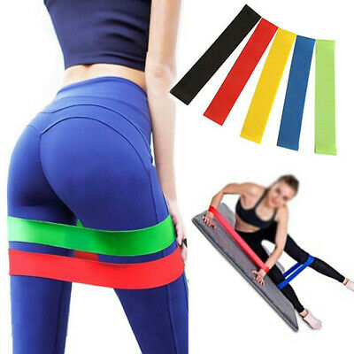 Resistance Elastic Band Exercise Gym Latex Rubber Fitness Training Stretch Belt