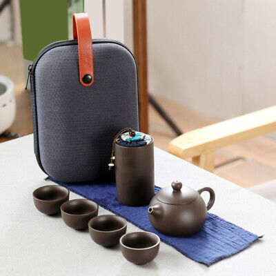 Portable Ceramic Kung Fu Tea Set for Household Travel Cup Set Y5Q1