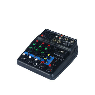 Sound Mixing Console with Bluetooth Record 4 Channels Audio Mixer USB Audio