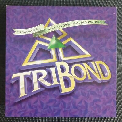 TRIBOND Fun Family Board Game -What Do These 3 Have In Common? Rare 1999 Edition