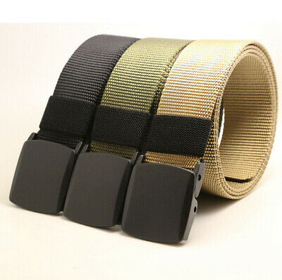 Nylon Waistband Men Outdoor Fashion Belt Military Tactical Canvas Web Sports