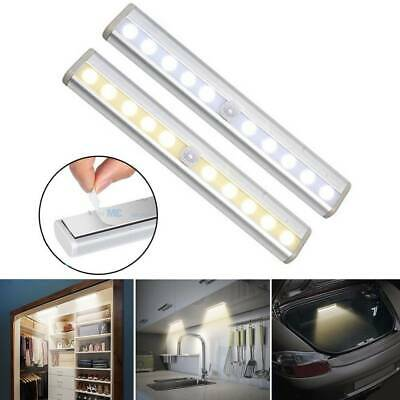 Wireless Battery Powered LED Motion Sensor Night Light Lamp Wall Wardrobe - AU